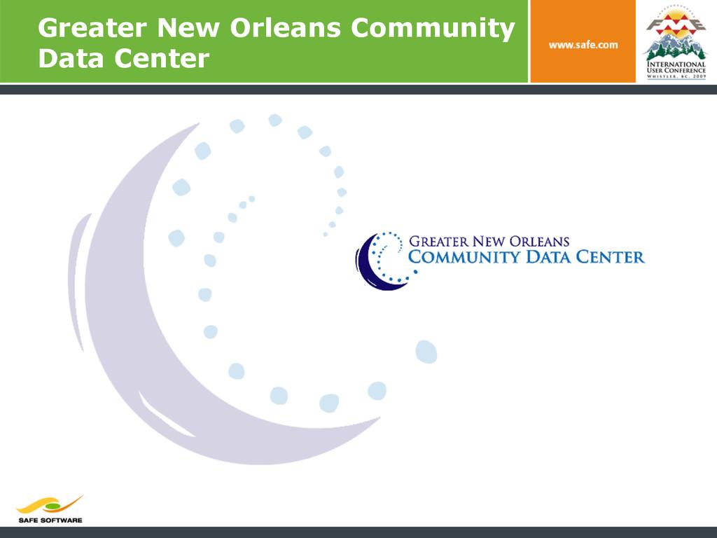 Greater New Orleans Community Data Center