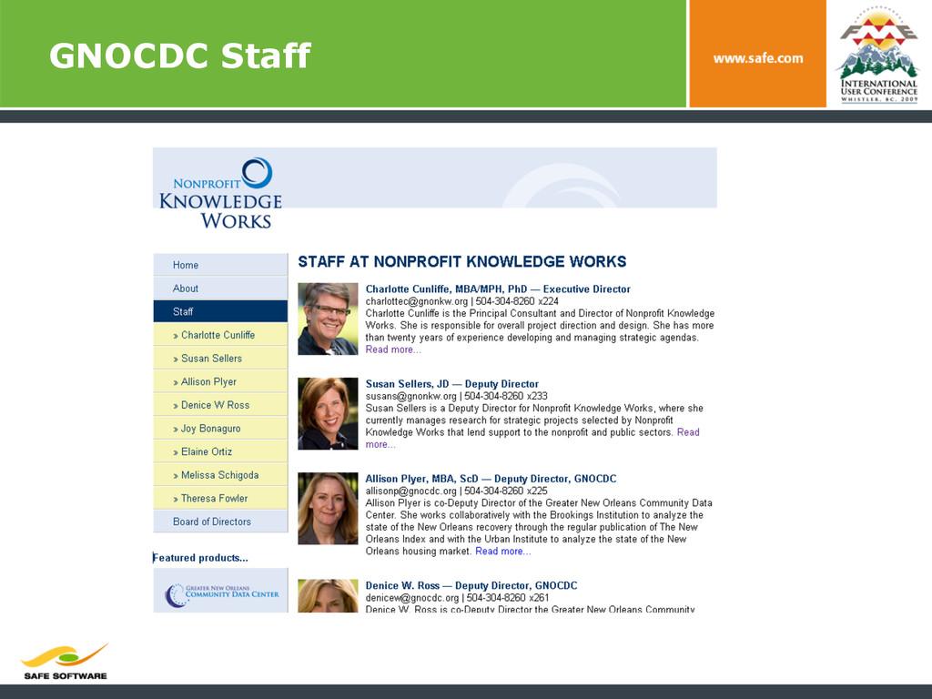 GNOCDC Staff