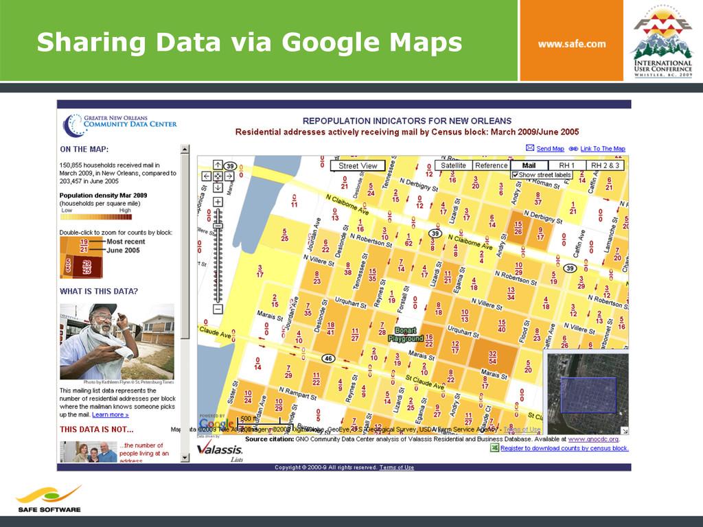 Sharing Data via Google Maps