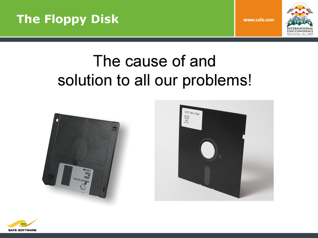 The Floppy Disk The cause of and solution to al...