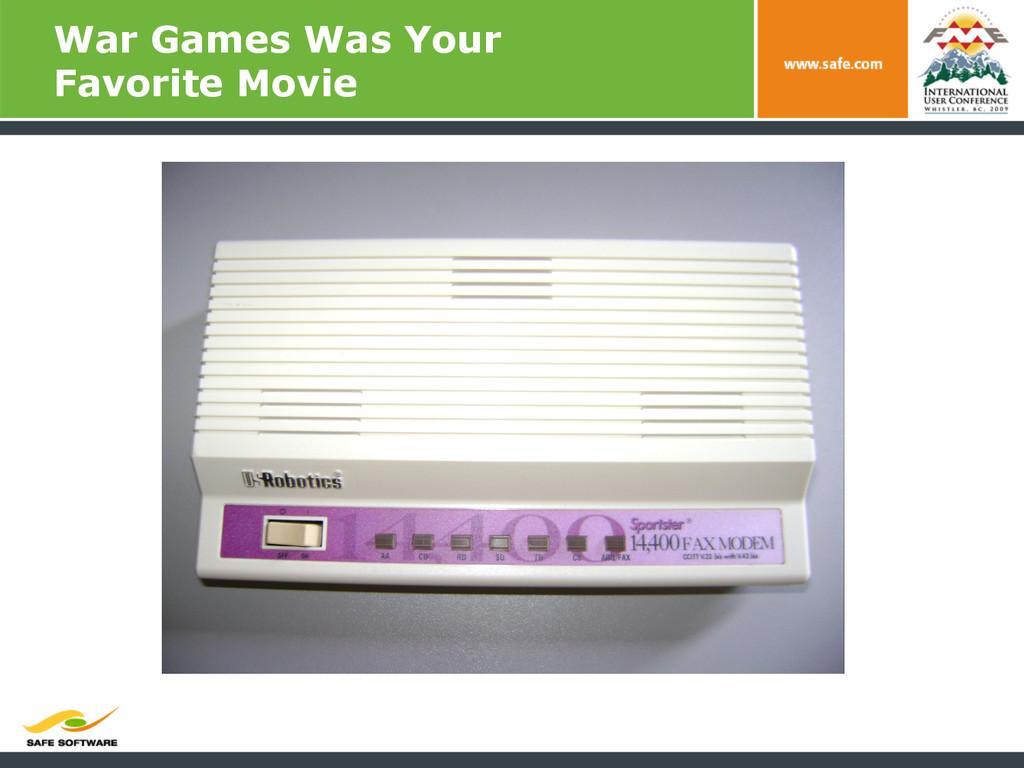 War Games Was Your Favorite Movie