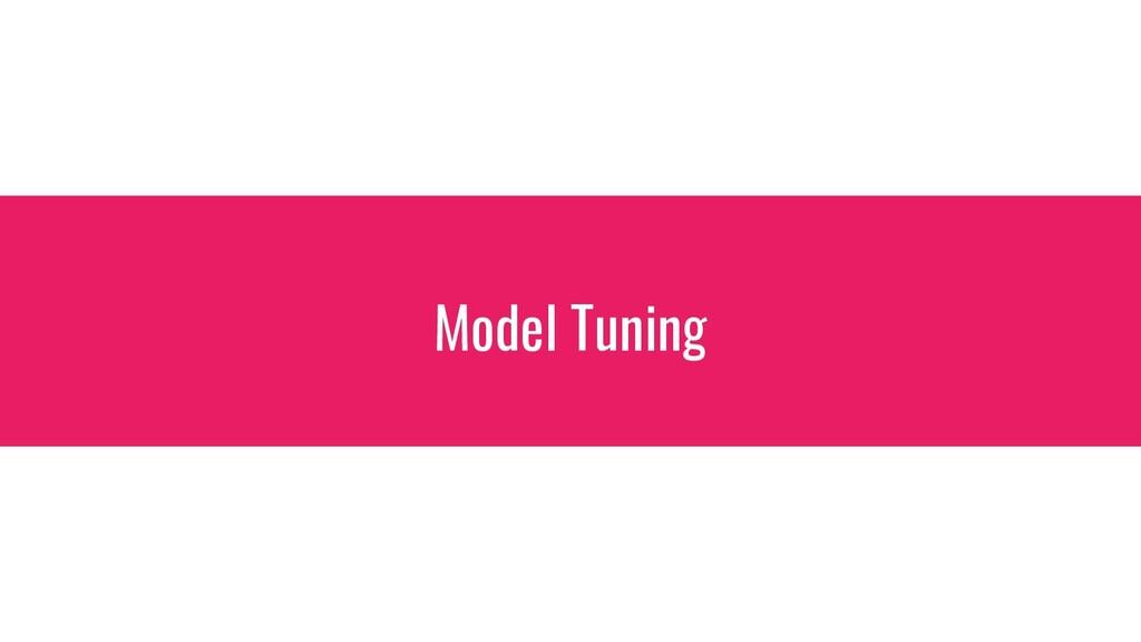 Model Tuning