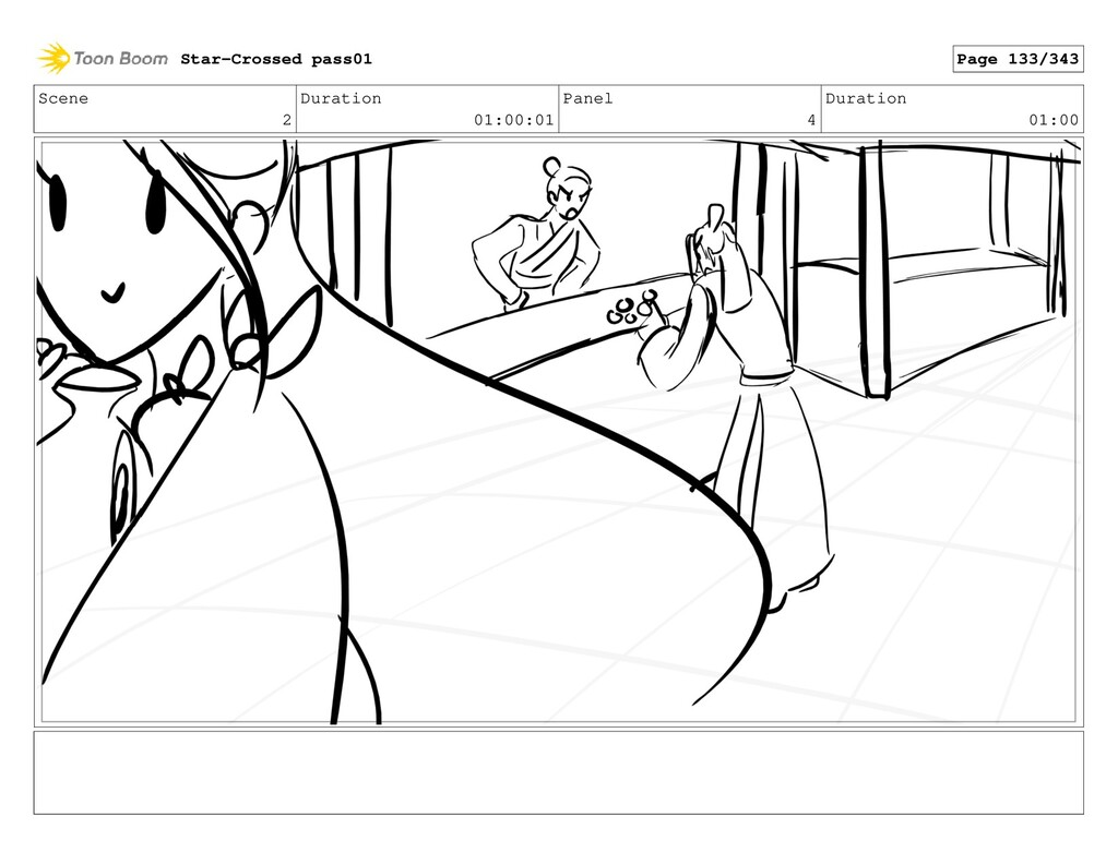 Scene 2 Duration 01:00:01 Panel 4 Duration 01:0...