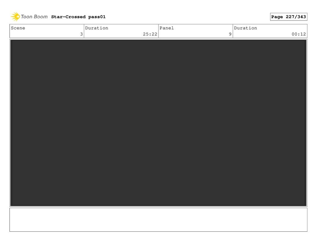 Scene 3 Duration 25:22 Panel 9 Duration 00:12 S...