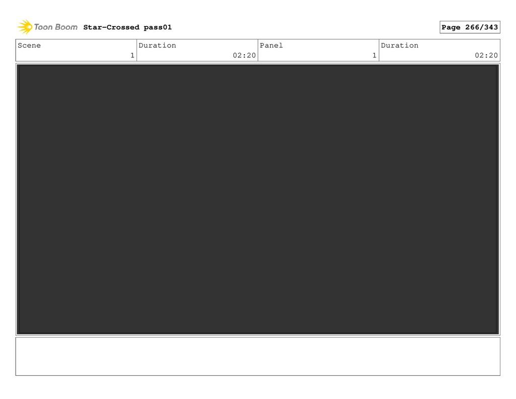 Scene 1 Duration 02:20 Panel 1 Duration 02:20 S...
