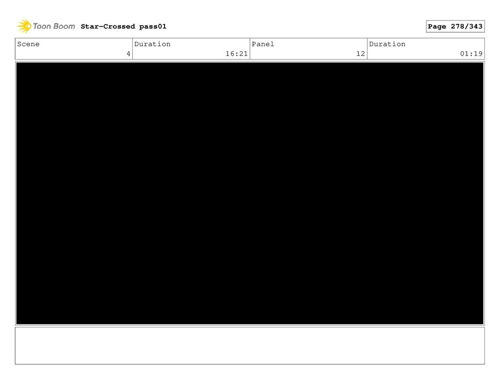 Scene 4 Duration 16:21 Panel 12 Duration 01:19 ...