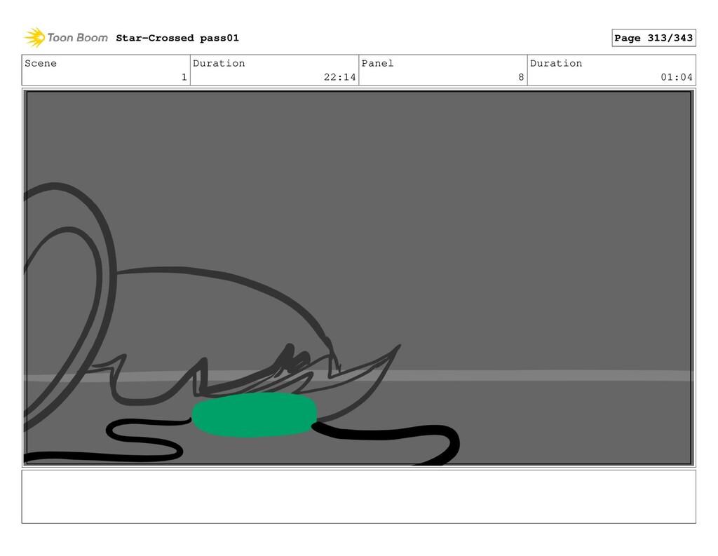 Scene 1 Duration 22:14 Panel 8 Duration 01:04 S...