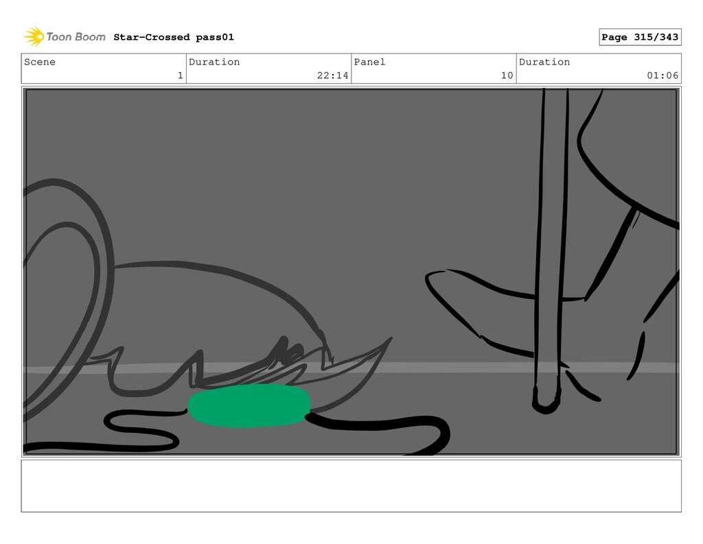 Scene 1 Duration 22:14 Panel 10 Duration 01:06 ...