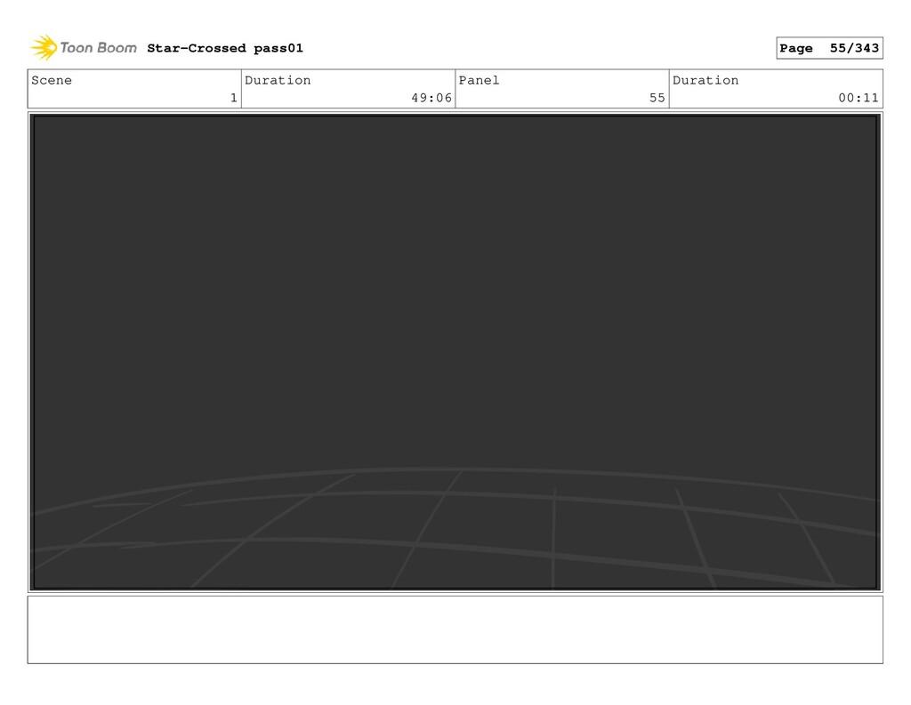 Scene 1 Duration 49:06 Panel 55 Duration 00:11 ...