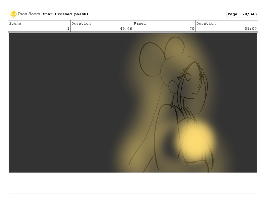 Scene 1 Duration 49:06 Panel 70 Duration 01:00 ...