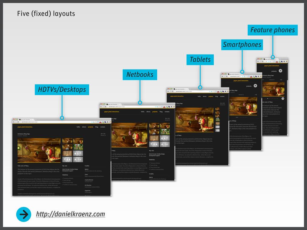 Five (fixed) layouts http://danielkraenz.com Fe...