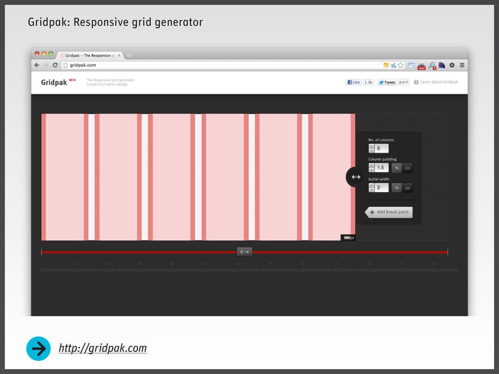 Gridpak: Responsive grid generator http://gridp...