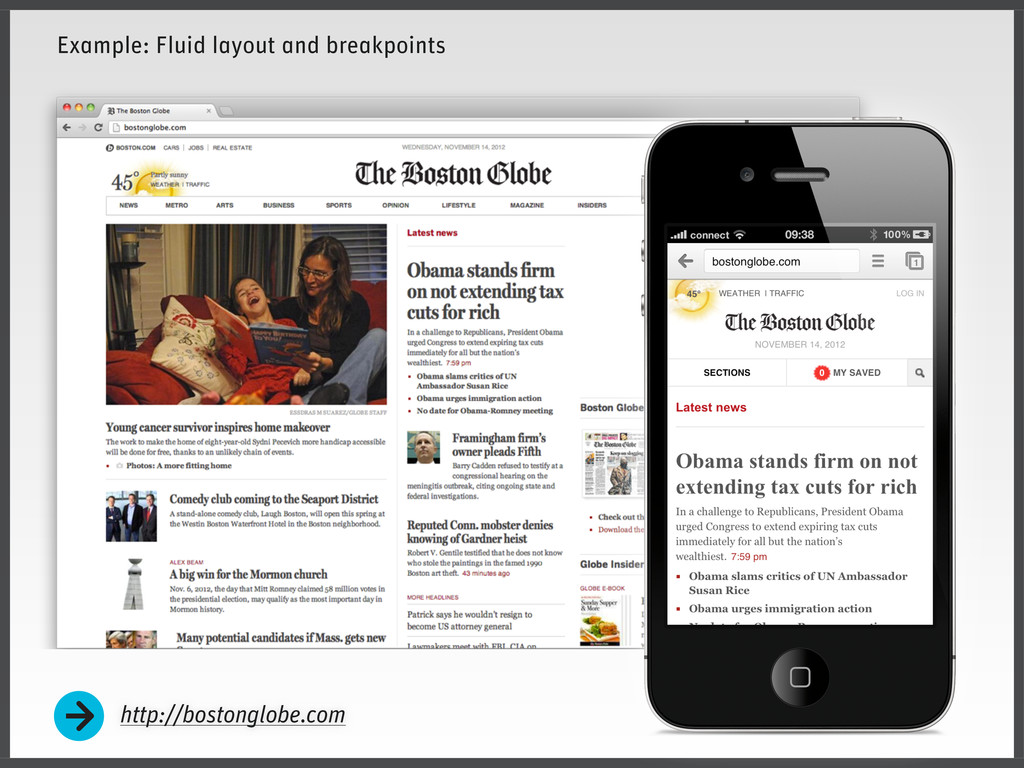 http://bostonglobe.com Example: Fluid layout an...