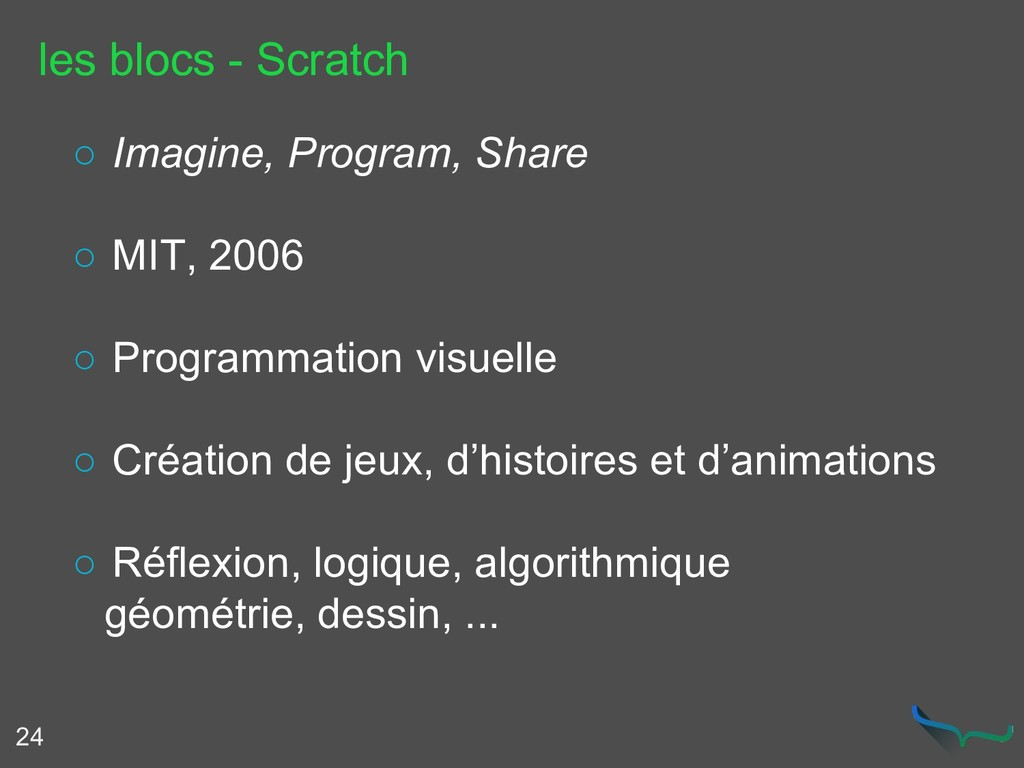 les blocs - Scratch 24 ○ Imagine, Program, Shar...