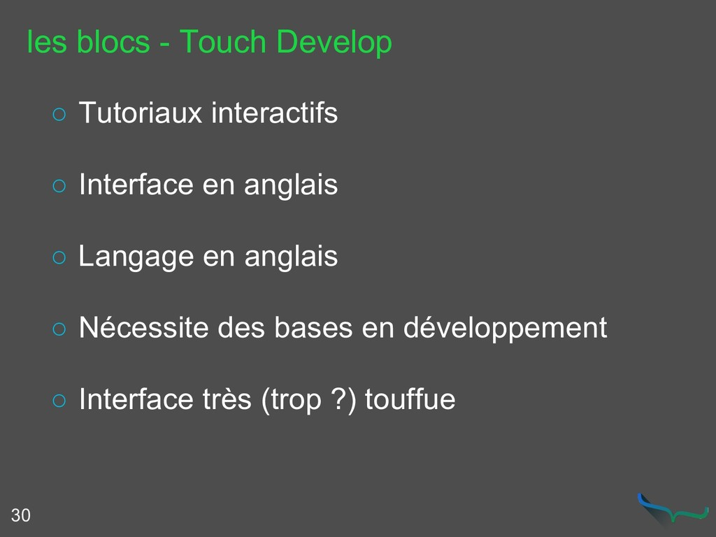 les blocs - Touch Develop 30 ○ Tutoriaux intera...