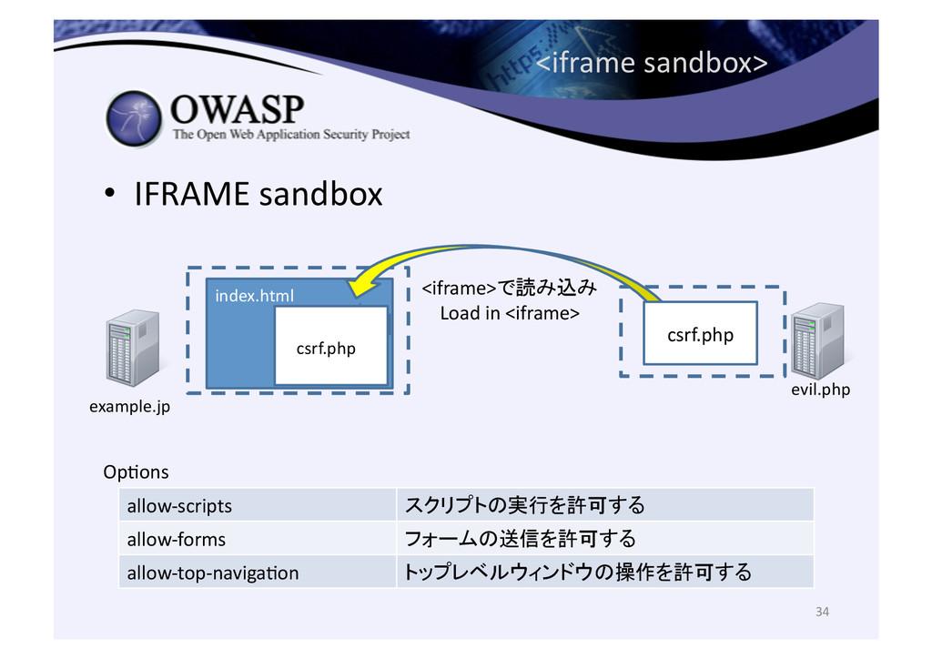 <iframe sandbox> • IFRAME sandbox 34...