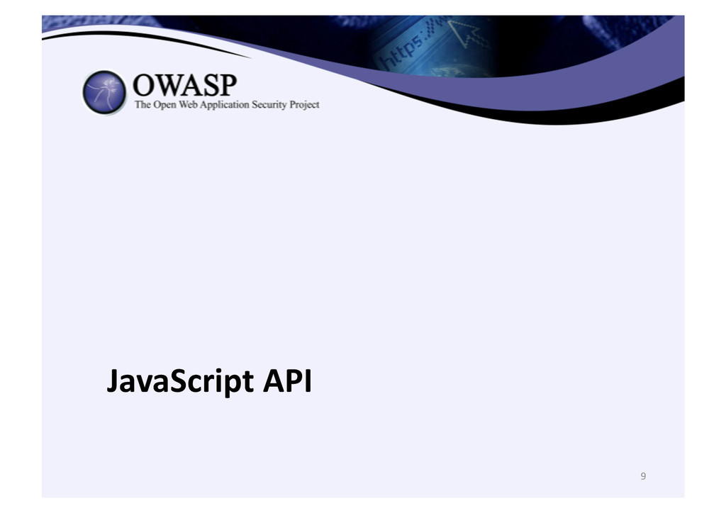 9  JavaScript API