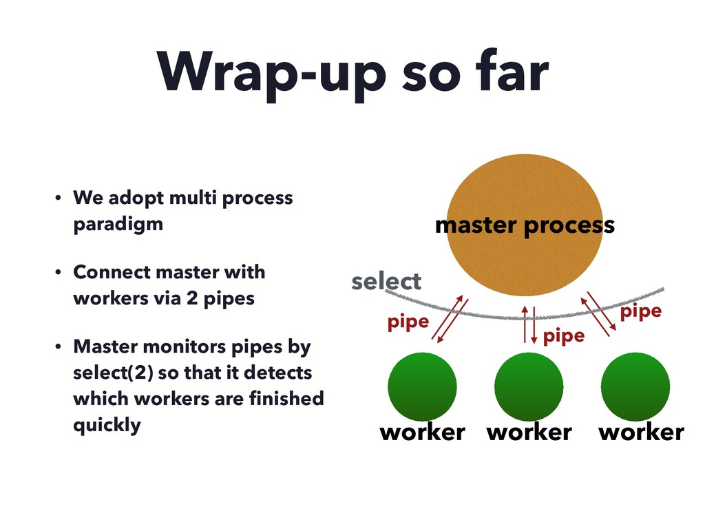 Wrap-up so far • We adopt multi process paradig...