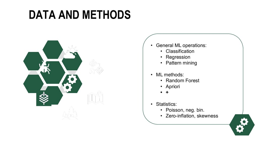 DATA AND METHODS • General ML operations: • Cla...