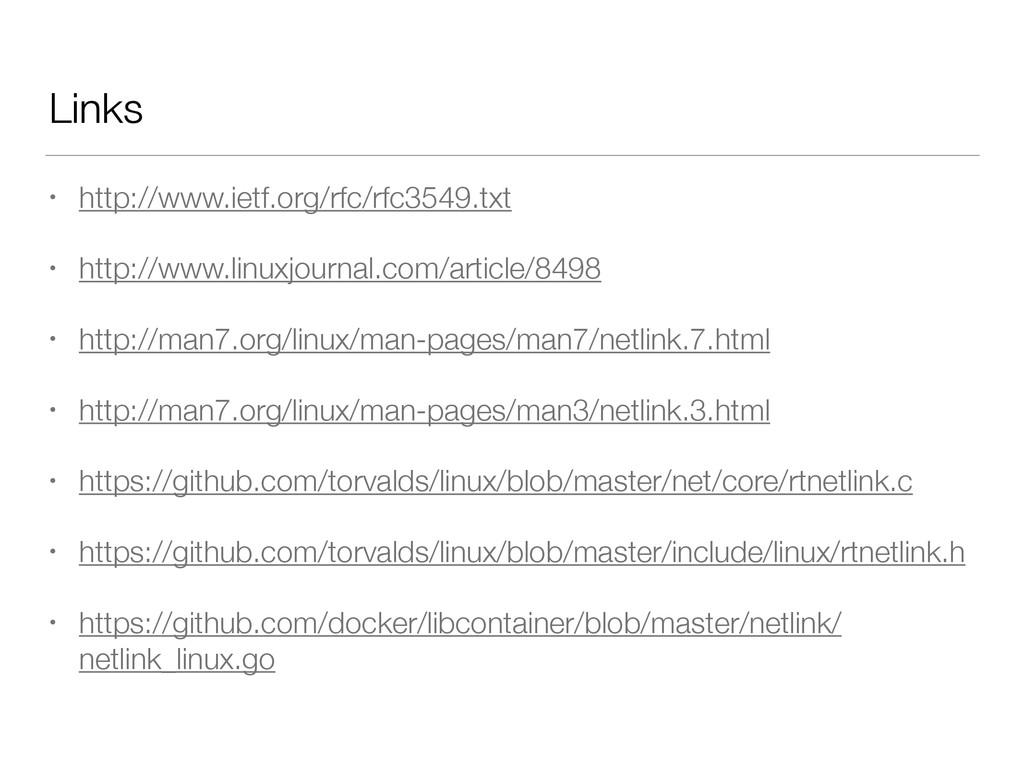 Links • http://www.ietf.org/rfc/rfc3549.txt • h...
