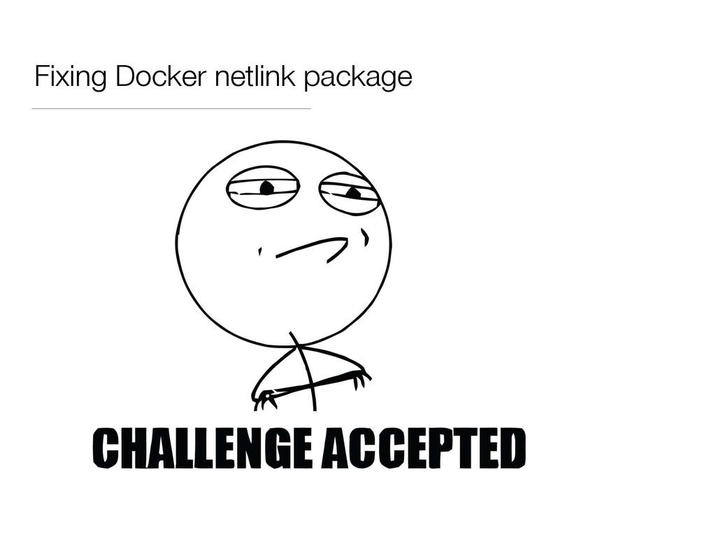 Fixing Docker netlink package