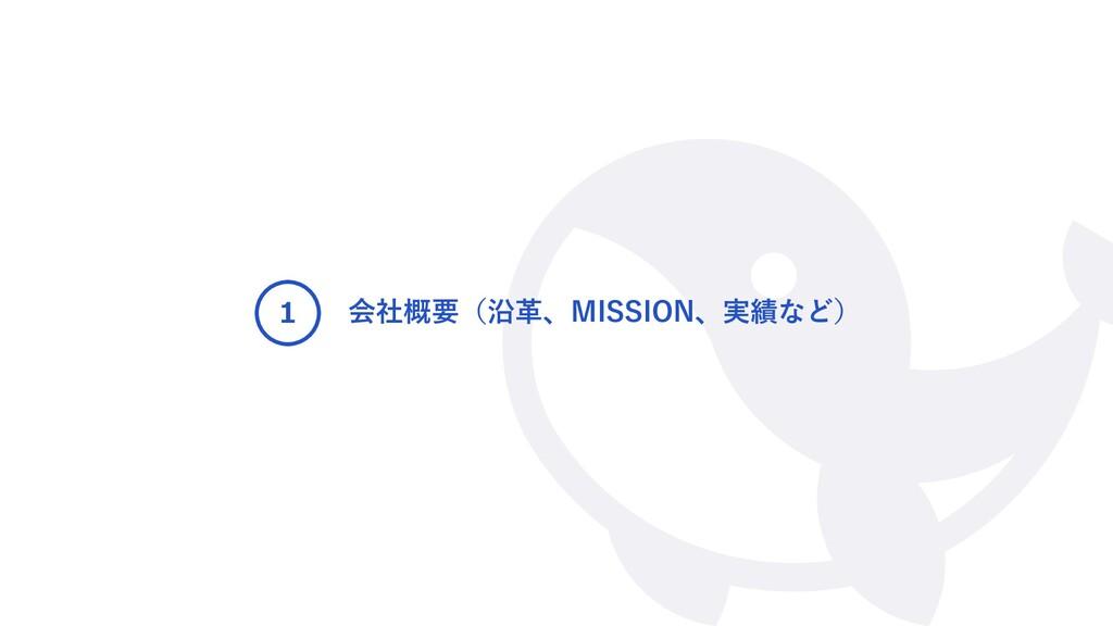 会社概要(沿革、MISSION、実績など) 1