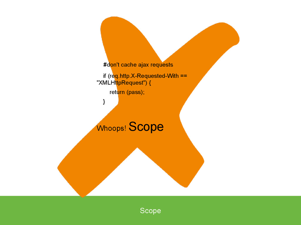 Scope #don't cache ajax requests if (req.http.X...