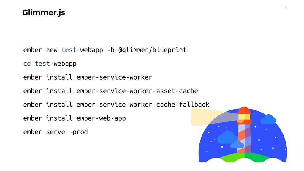 18 Glimmer.js ember new test-webapp -b @glimmer...
