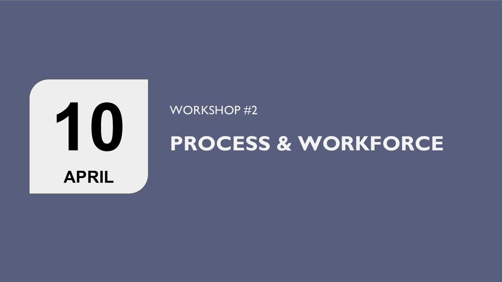 10 APRIL WORKSHOP #2 PROCESS & WORKFORCE