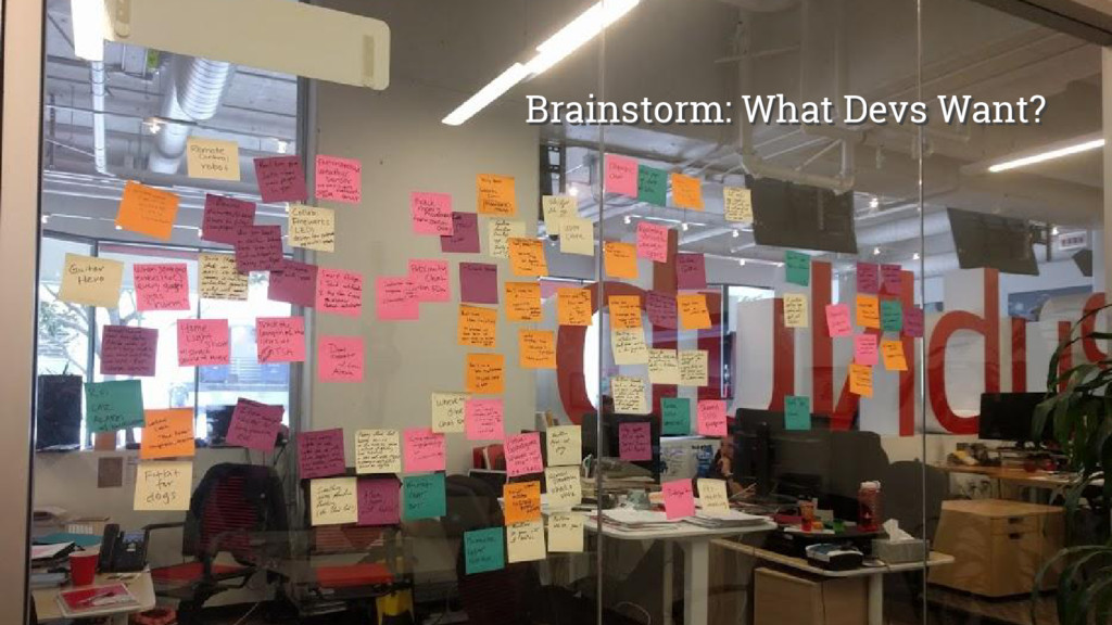 @girlie_mac Brainstorm: What Devs Want? Brainst...