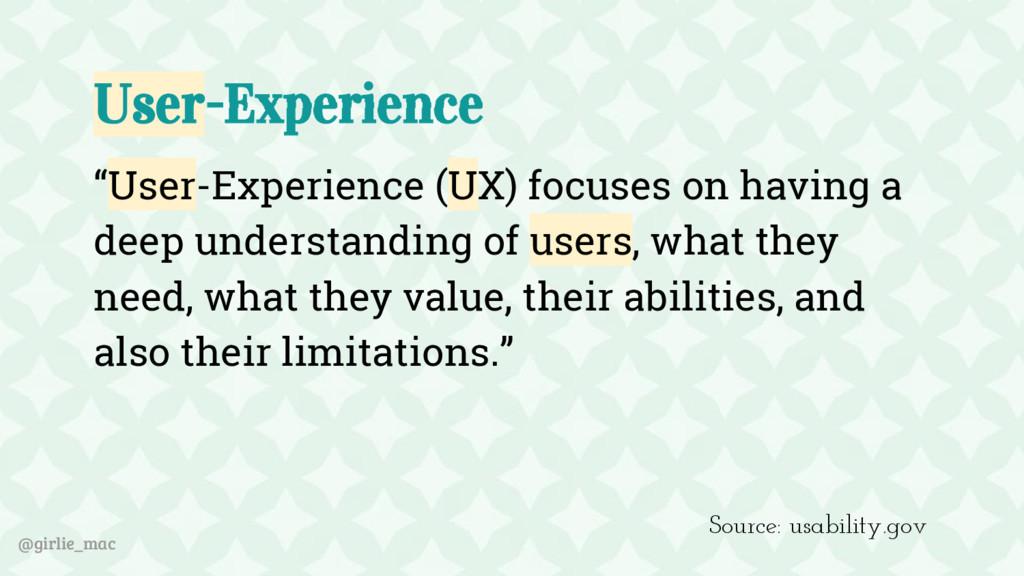 """@girlie_mac User-Experience """"User-Experience (U..."""