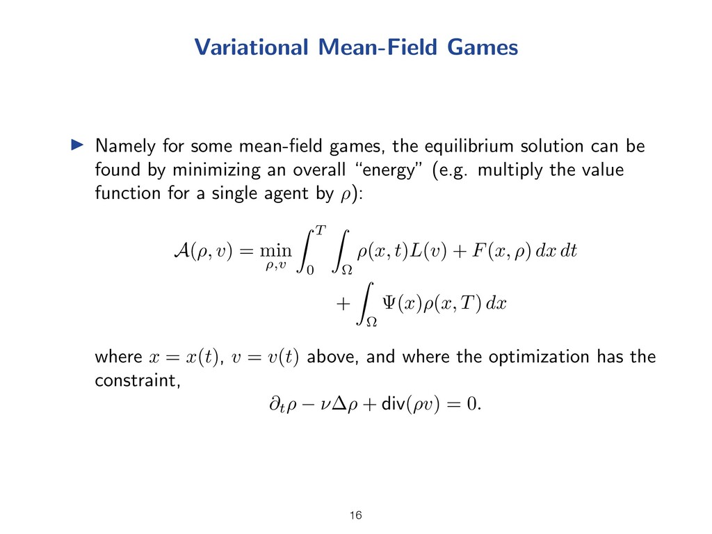 Variational Mean-Field Games I Namely for some ...