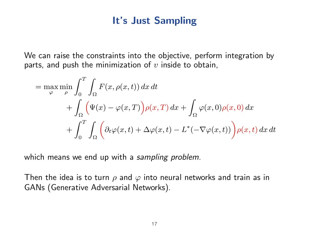 It's Just Sampling We can raise the constraints...