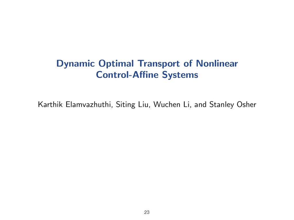 Dynamic Optimal Transport of Nonlinear Control-...