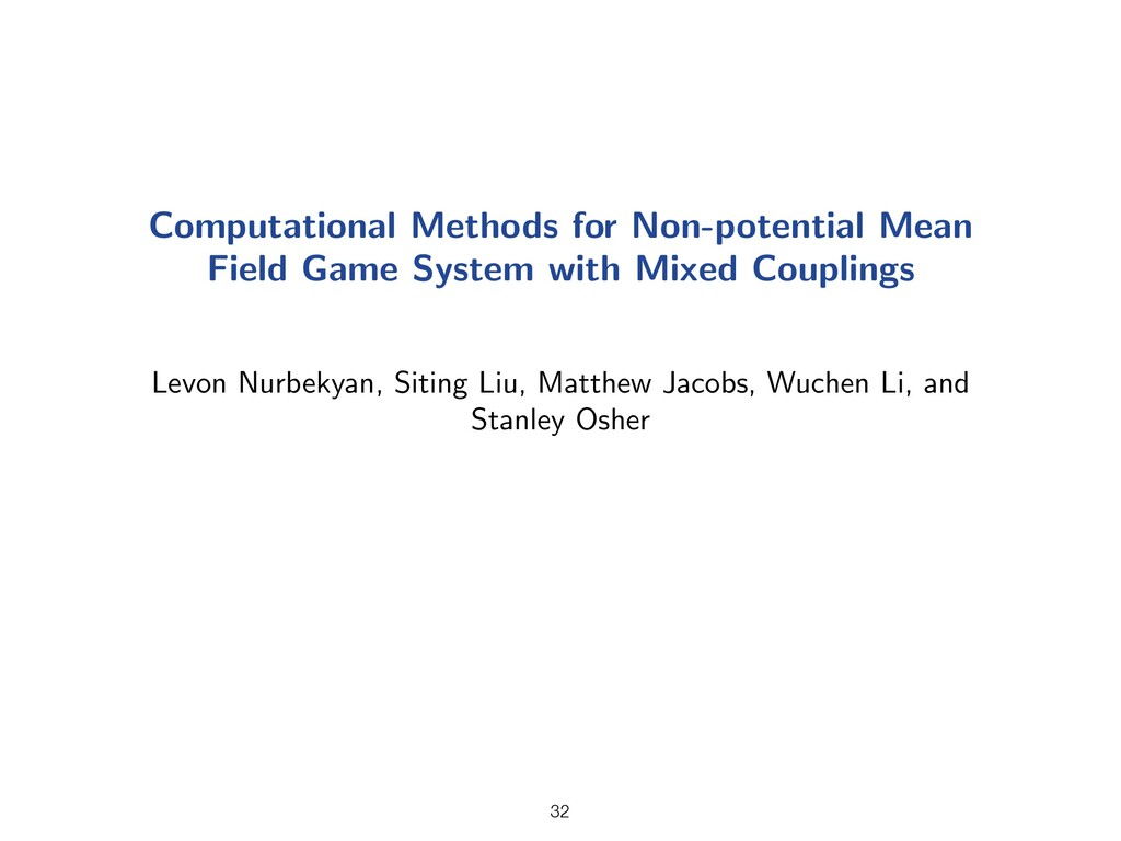 Computational Methods for Non-potential Mean Fi...