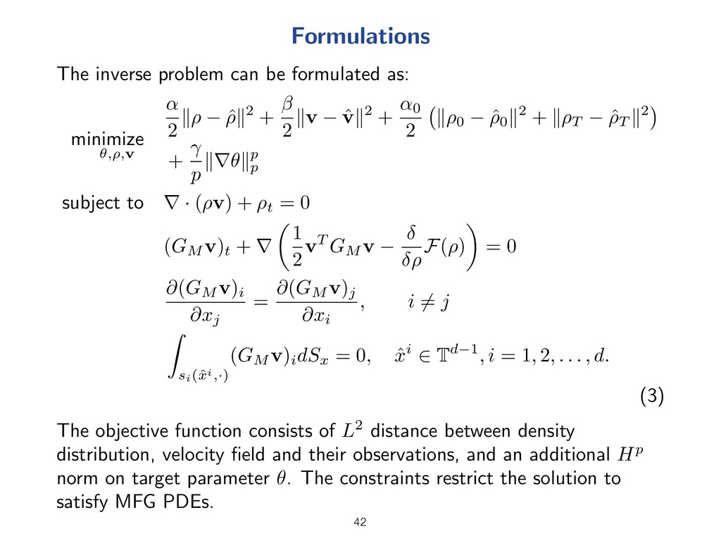 Formulations The inverse problem can be formula...