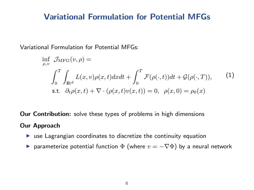 Variational Formulation for Potential MFGs Vari...
