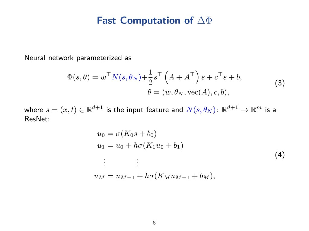 Fast Computation of Neural network parameterize...