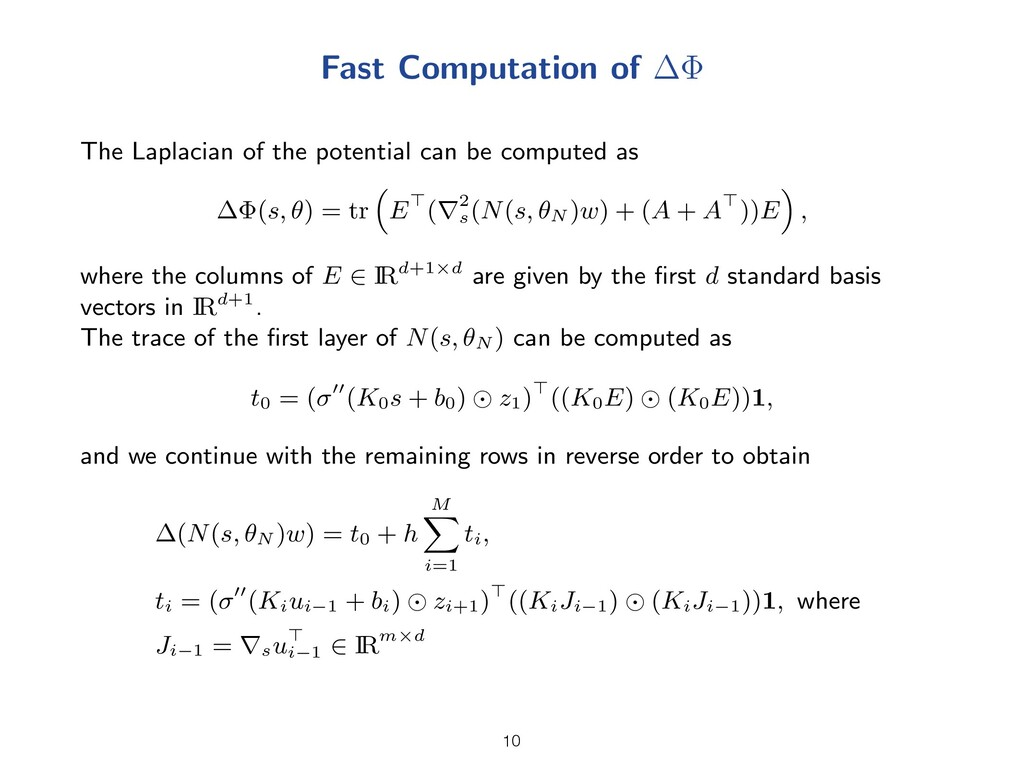 Fast Computation of The Laplacian of the potent...