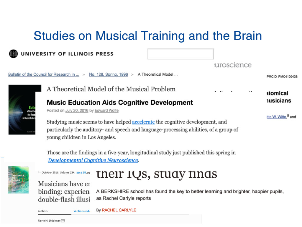 Studies on Musical Training and the Brain