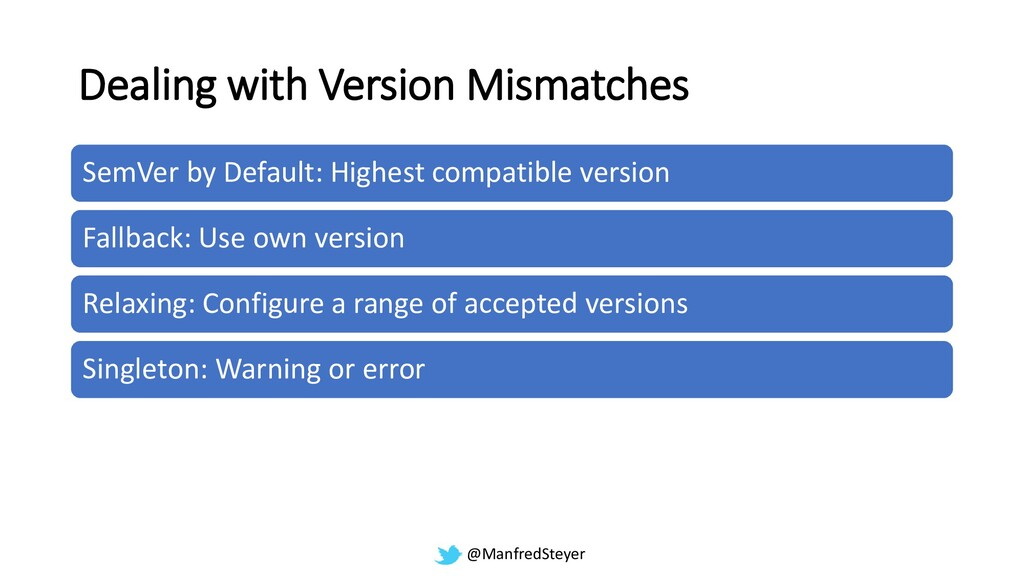 @ManfredSteyer Dealing with Version Mismatches ...
