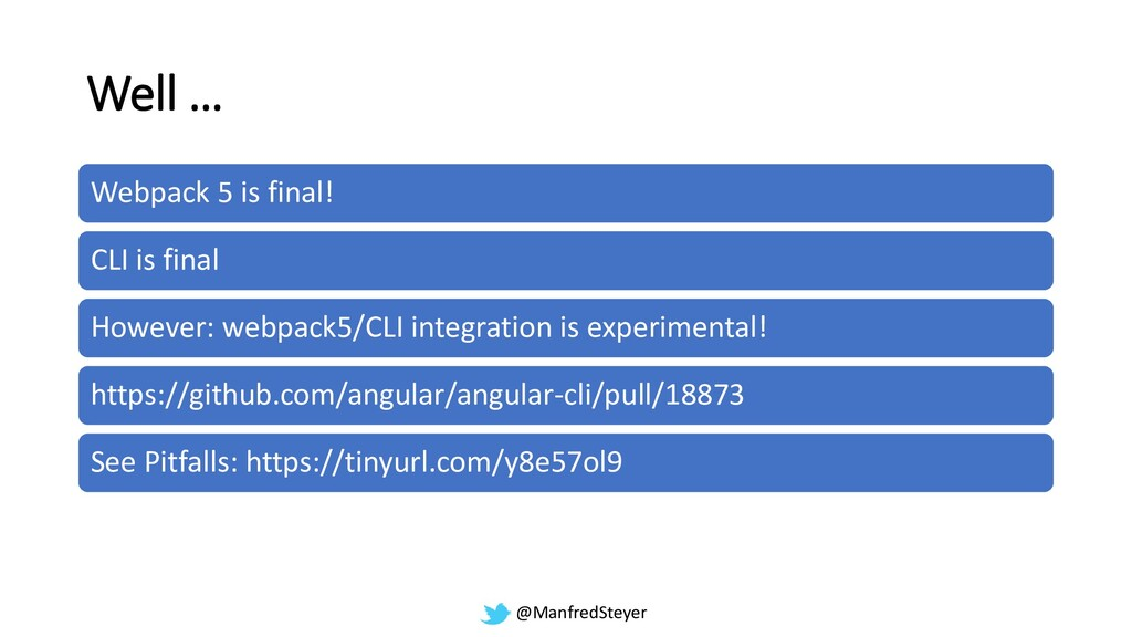@ManfredSteyer Well … Webpack 5 is final! CLI i...