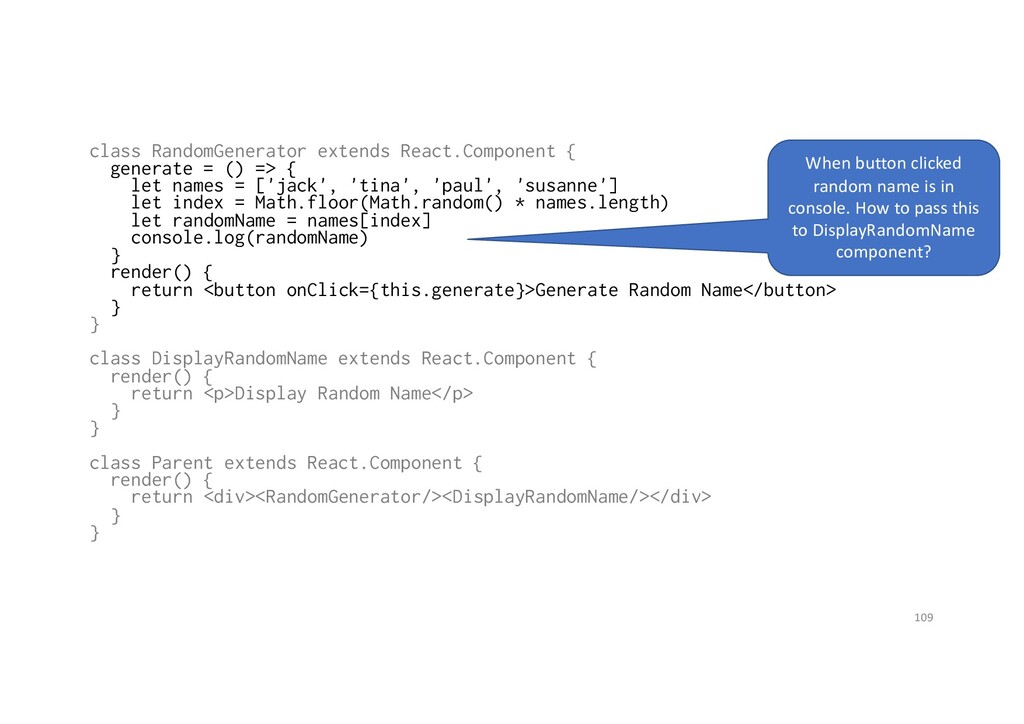 class RandomGenerator extends React.Component {...