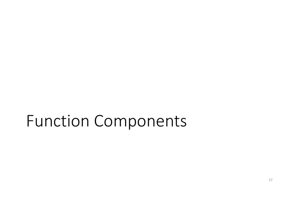 Function Components 17