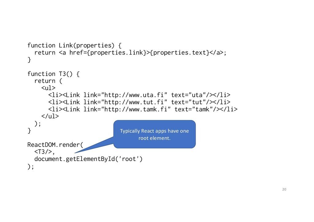 function Link(properties) { return <a href={pro...