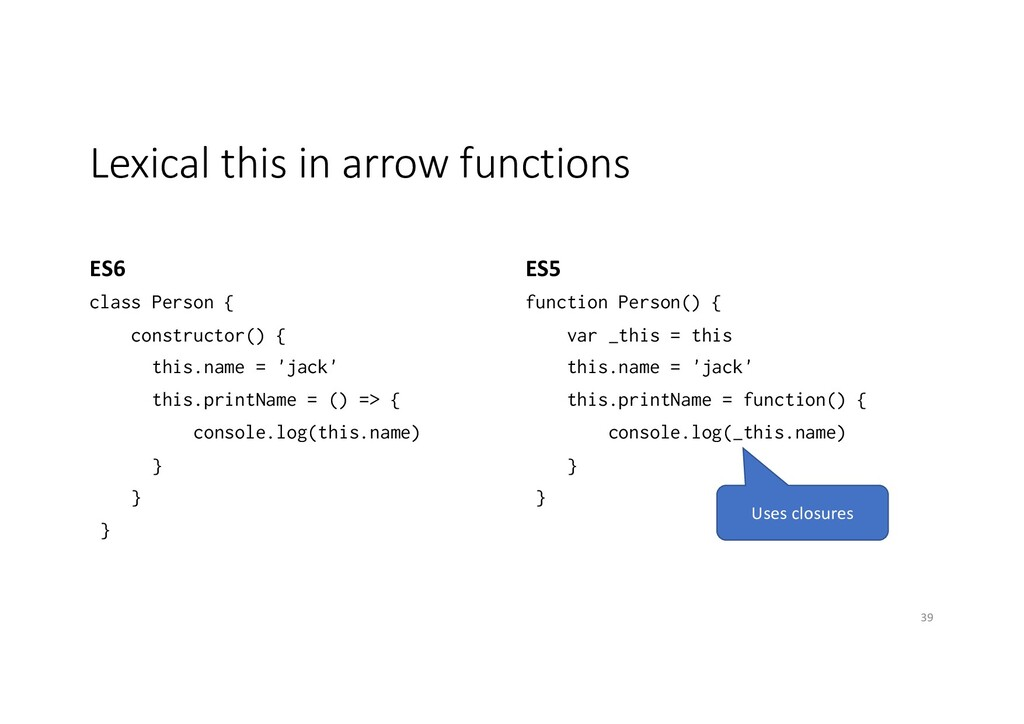 Lexical this in arrow functions ES6 class Perso...