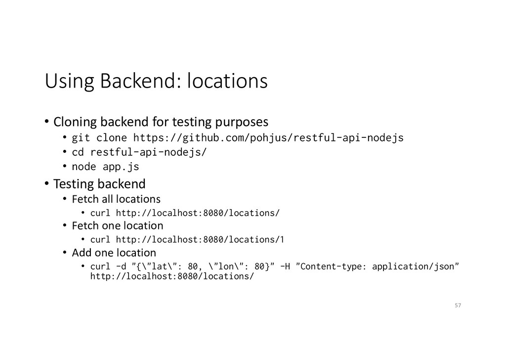 Using Backend: locations • Cloning backend for ...