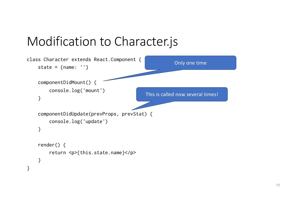 Modification to Character.js class Character ex...