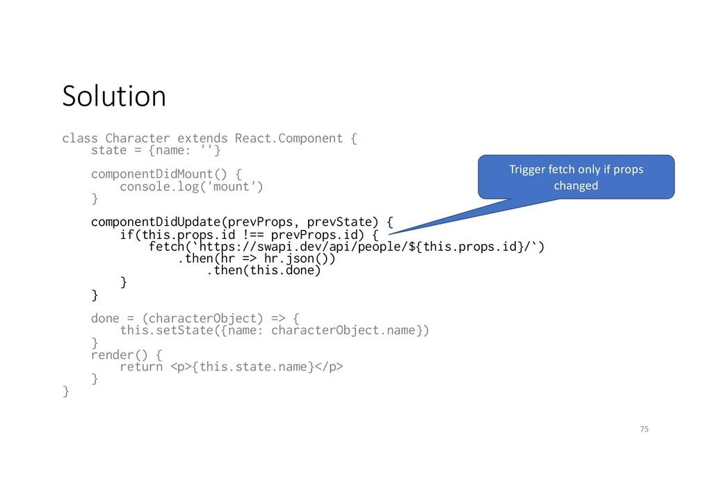 Solution class Character extends React.Componen...