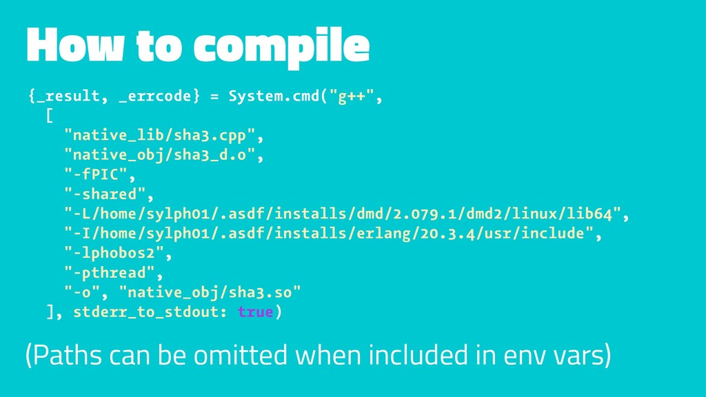 How to compile {_result, _errcode} = System.cmd...
